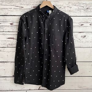H&M Divided Long Sleeve Oxford Button Down SZ S